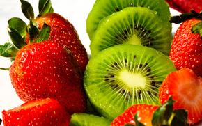 fragole, kiwi, frutta