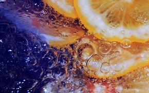 Limn, agua, Burbujas, Macro