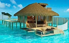 Maldivas, trpicos, bungalow