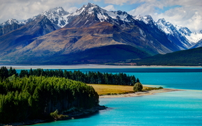 lago, tekapo, neozelandese