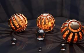 Palle, sfera, 3d