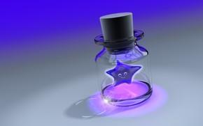 バブル, スター, ガラス, 3D