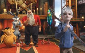 Babbo Natale, Icy Jack, Tooth Fairy, Sandman, Fantasia, cartone animato, custodi di sogni, Coniglietto di Pasqua