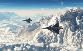 Mountains, aviation, fighters