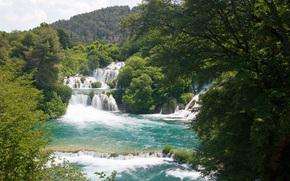 krka national park, croatia, река, водопады