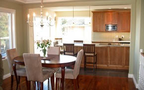 interno, stile, casa, cucina, design, sala da pranzo, villa