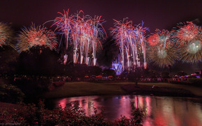 don sullivan, The Magic Kingdom, Disney, night, salute, fireworks