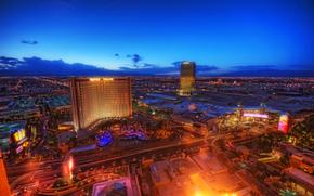 Las Vegas, Nevada, USA, panorama, soire, lumires, casino