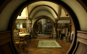 шир, интерьер, дом, арт, нора, властелин колец