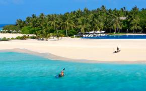 Maldives, des tropiques, plage
