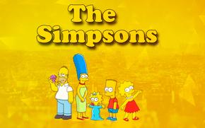 Simpsons, Bart, Liza, Homer, MEGA, Marge