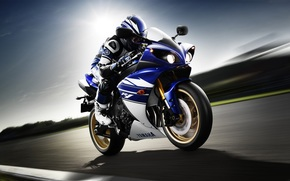 vitesse, Yamaha, motocycliste, Motos, sport moto