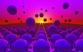 шары, сферы, 3d
