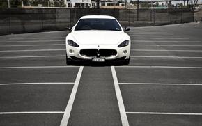 Front, granturizmo, Wei, Maserati, Parkplatz, Band, Maserati