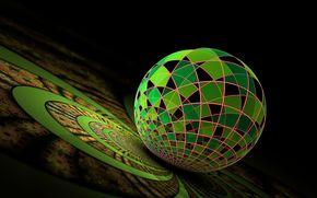 ball, scope, 3d, art