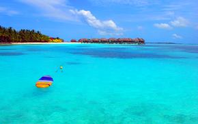 paisaje, Maldivas, trpicos