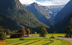 Montagnes, Norvge, Sogn og Fjordane, Stryn, route