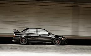 Car, doors, Mitsubishi, machine, side view, rate, black