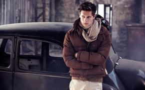 куртка, взгляд, машина, парень, мужчина