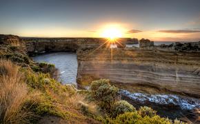 william bullimore, australia, закат, море, скалы, пейзаж