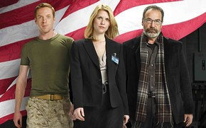 actors, USA, Soul Berenson, Damian Lewis, series, Carrie Mathison, home, Nicholas Brody, odd man out, flag, Claire Danes, Mandy Patinkin
