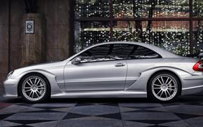 Silber, Mercedes, Gebude, Mercedes, Parkplatz