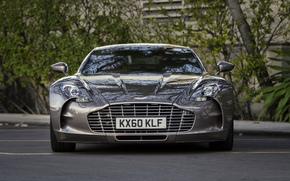 Parkplatz, vor, Bume, Supercar, Aston Martin, Aston Martin