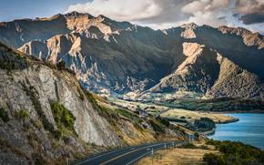lago hawea, distretto di Queenstown laghi sull'isola meridionale, Otago, neozelandese