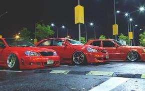 Toyota, Toyota, Nacht, Parkplatz