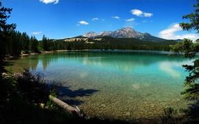 lago edith, Parco nazionale Jasper, alberta, Canada