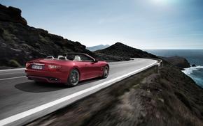 briser, cte, ciel, vitesse, mer, Maserati