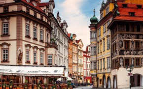home, city, building, architecture, cafe, Street, Czech Republic, Prague