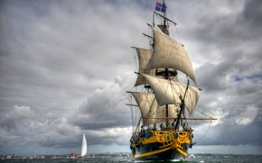grand turk, frigate, sailing ship, sea
