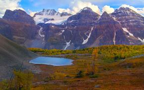 traccia valle larice, Moraine Lake, Parco Nazionale di Banff, alberta, Canada