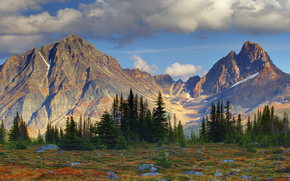 peaks of dominance - the ramparts, tonquin valley, jasper national park, alberta, canada