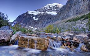 cascada campamento base - Edith Cavell montaa, Parque Nacional Jasper, alberta, Canad