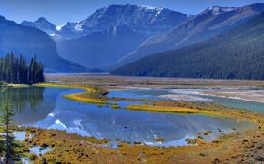 alberta, Canad, Banff National Park, padres de reflexo da natureza - Icefields