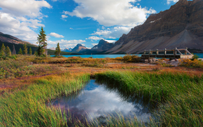 fountain of youth - bow lake, icefields parkway, banff national park, alberta, canada