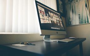 mesa, marca, De alta tecnologa, controlar, teclado, ratn