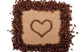 caf, corazn, granos de caf, Creatividad