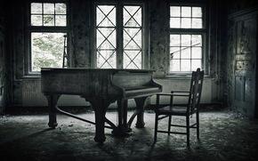piano, msica, sala