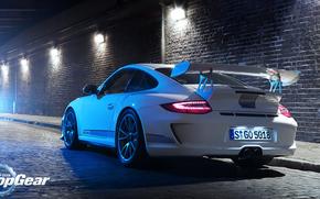 Sintonia, luce, Porsche, strada, bianco