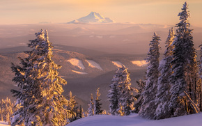 mount bachelor from mount hood, mount hood, or