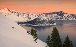 crater of fire, crater lake national park, oregon