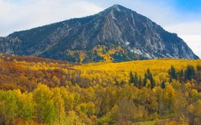 valle del color debajo de la montaa, pico de la falda de cada, Colorado