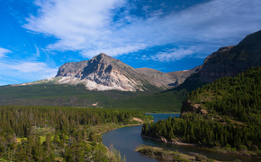 the view from many glacier road, glacier national park, montana