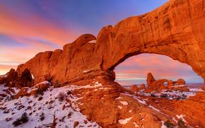 vagues de lumire - Touret, Arches National Park, Utah