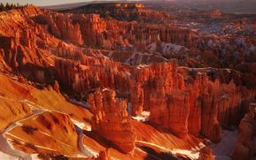 sunrise on the bryce amphitheater, bryce canyon national park, utah