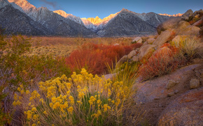early start in the sierras - mount whitney, alabama hills, eastern sierras, ca