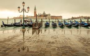 rocking on the acqua alta, castello, venice, italy